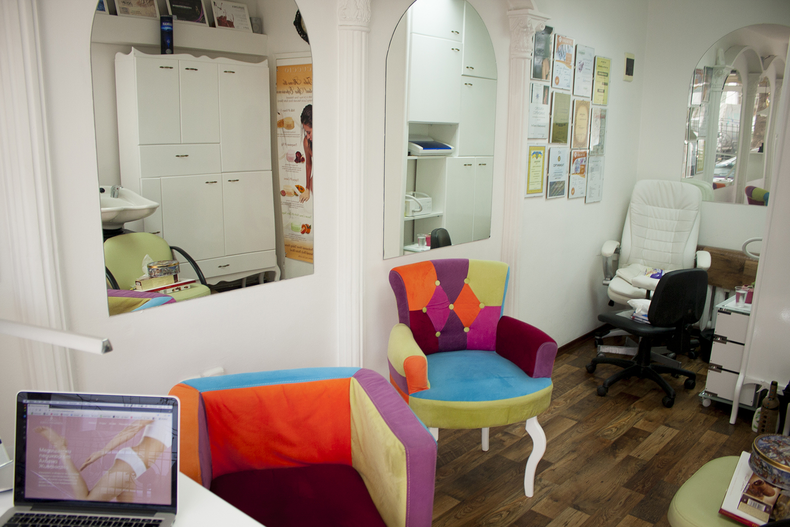 Albena Zhivankina's medical pedicure studio interior
